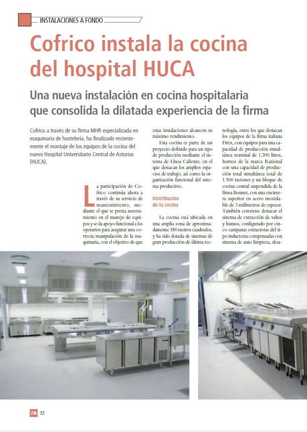 Reportaje Cocina Hospital HUCA en Hh Servicios Sociosanitarios Pagina 1