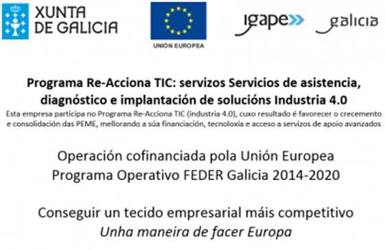 Cartel programa re-acciona TIC implantacion soluciones industria 4.0
