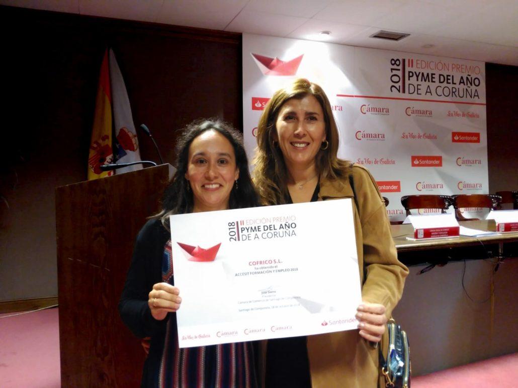 Entrega premio Pyme Coruna 2018 Formacion Empleo