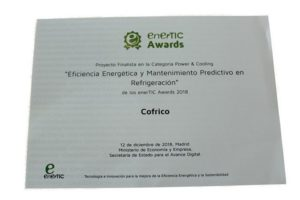 Premio enerTIC awards 2018 cofrico power cooling
