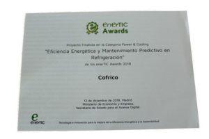 Premio enerTIC awards 2018 cofrico power cooling